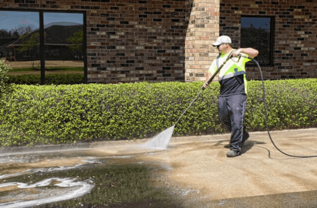 commercial concrete cleaning in alpharetta